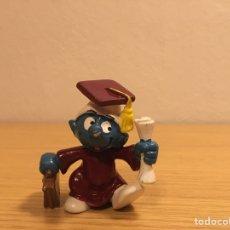 Figuras de Goma y PVC: PITUFO GRADUADO - LICENCIADO - FIGURA PVC - SCHLEICH-PEYO - AÑO 1981. Lote 187182222