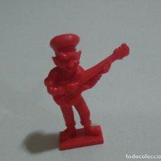 Figuras de Goma y PVC: CEREALES MUÑECO KELLOGGS PROMOCIONAL KELLOGS RICE PVC DUNKIN FIGURA BANDA MUSICA GUITARRA ROJO. Lote 187183995