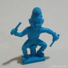 Figuras de Goma y PVC: CEREALES MUÑECO KELLOGGS PROMOCIONAL KELLOGS RICE PVC DUNKIN FIGURA BANDA MUSICA BATERIA BASS AZUL. Lote 187184085