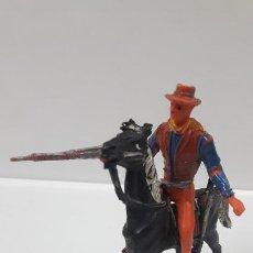 Figuras de Goma y PVC: BUCK CANNON A CABALLO - EL GRAN CHAPARRAL. REALIZADO POR COMANSI . AÑOS 60 / 70. Lote 187300918