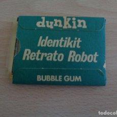 Figuras de Goma y PVC: DUNKIN INDENTIKIT RETRATO ROBOT. SOBRE CON VISOR Y TRANSPARENCIAS. Lote 187383682