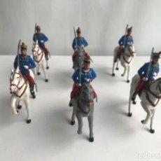 Figuras de Goma y PVC: SERÍA COMPLETA CABALLERIA REAL SOLDIS . Lote 187487507