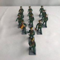 Figuras de Goma y PVC: SERÍA COMPLETA GUARDIA CIVIL DE GALA SOLDIS . Lote 187488212