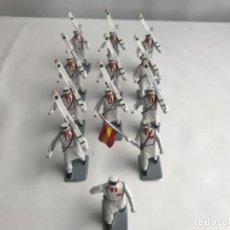 Figuras de Goma y PVC: SERÍA COMPLETA ESQUIADORES SOLDIS . Lote 187489317