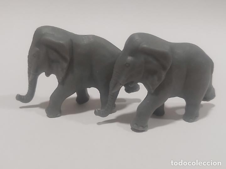 Figuras de Goma y PVC: ELEFANTES GRANDES * CIRCO LA ROCHE AUX FEES * PREMIO YOGURES AÑOS 70 - Foto 2 - 187506518