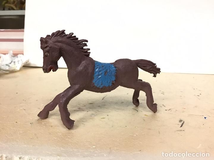 FIGURA CABALLO JECSAN INDIO OESTE COWBOY WESTERN NO REAMSA LAFREDO PECH COMANSI (Juguetes - Figuras de Goma y Pvc - Jecsan)