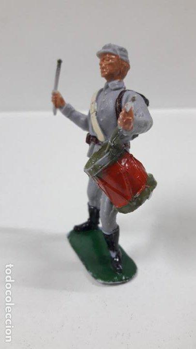 Figuras de Goma y PVC: SOLDADO CONFEDERADO CON TAMBOR . REALIZADO POR JECSAN . AÑOS 60 - Foto 3 - 187615905