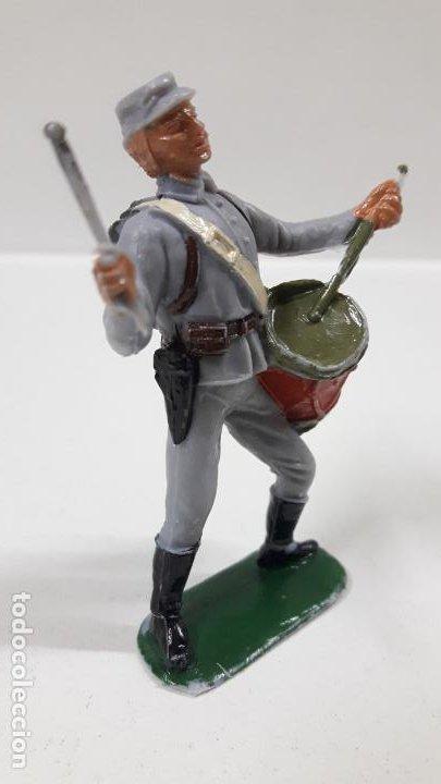 Figuras de Goma y PVC: SOLDADO CONFEDERADO CON TAMBOR . REALIZADO POR JECSAN . AÑOS 60 - Foto 4 - 187615905