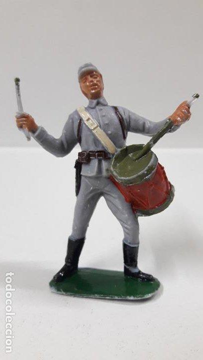 Figuras de Goma y PVC: SOLDADO CONFEDERADO CON TAMBOR . REALIZADO POR JECSAN . AÑOS 60 - Foto 5 - 187615905