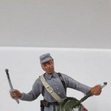 Figuras de Goma y PVC: SOLDADO CONFEDERADO CON TAMBOR . REALIZADO POR JECSAN . AÑOS 60. Lote 187615905