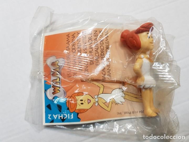 Figuras de Goma y PVC: Figuras de Goma Picapiedra de Shell lote 4 distintas sin abrir en blister - Foto 3 - 188514428