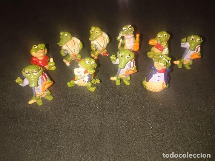LOTE DE 10 FIGURAS COCODRILOS DE HUEVOS KINDER , LEER DESCRIPCION (Juguetes - Figuras de Gomas y Pvc - Kinder)