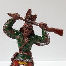 Figurines en Caoutchouc et PVC: GUERRERO INDIO . REALIZADO POR LAFREDO . SERIE GRANDE . AÑOS 60. Lote 188541417
