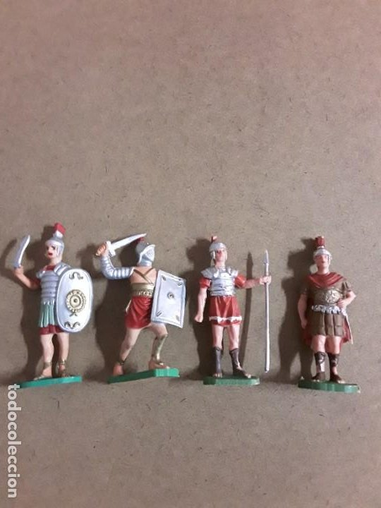 FIGURAS SOLDADOS GLADIADOR GOMA OLIVER (Juguetes - Figuras de Goma y Pvc - Otras)