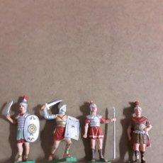 Figuras de Goma y PVC: FIGURAS SOLDADOS GLADIADOR GOMA OLIVER. Lote 188680775