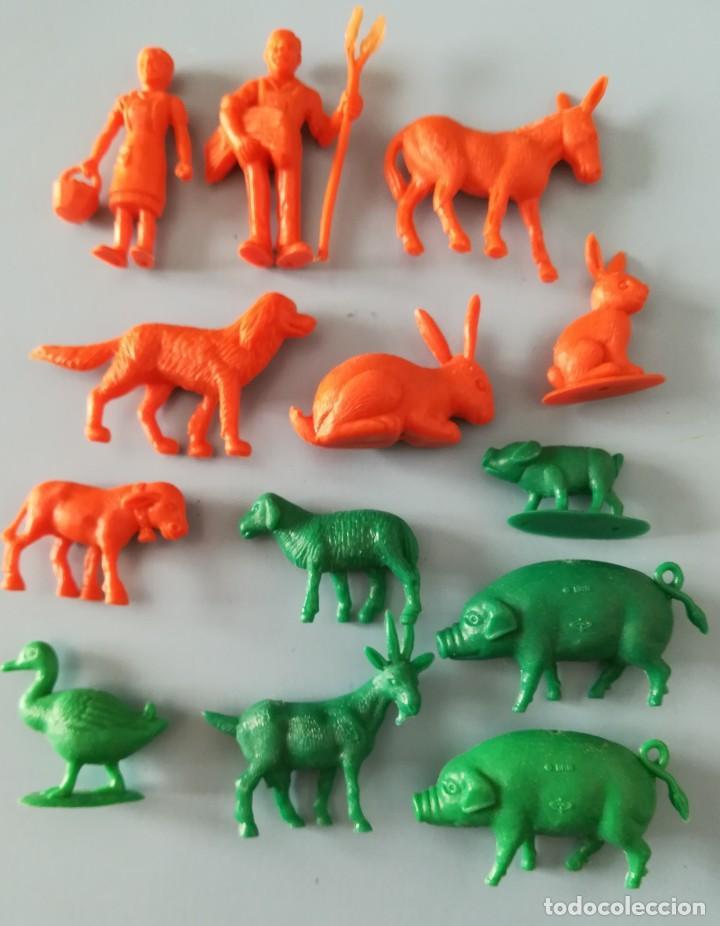 LOTE FIGURAS DE PLÁSTICO GRANJA DUNKIN (Juguetes - Figuras de Goma y Pvc - Dunkin)