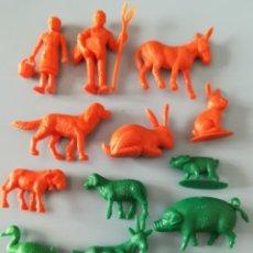 Figuras de Goma y PVC: LOTE FIGURAS DE PLÁSTICO GRANJA DUNKIN. Lote 188801218