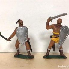 Figuras de Goma y PVC: FIGURA HUNOS JECSAN HORDAS GUERRERAS DE JECSAN MONGOL ATILA FIGURA ANTIGUA. Lote 163627846