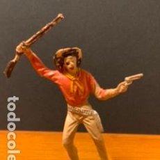 Figuras de Goma y PVC: ANTIGUA FIGURA, VAQUERO, TIPO COMANSI, MEDIDAS 8 CM, AÑOS 60. Lote 189116888