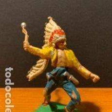 Figuras de Goma y PVC: ANTIGUA FIGURA, INDIO, TIPO COMANSI, MEDIDAS 6 CM, AÑOS 60. Lote 189118197