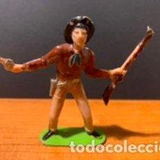 Figuras de Goma y PVC: ANTIGUA FIGURA, VAQUERO, TIPO COMANSI, MEDIDAS 7 CM, AÑOS 60. Lote 189118312