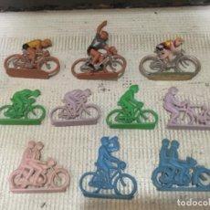 Figuras de Goma y PVC: LOTE CICLISTAS DE SOTORRES Y OTROS, ESPAÑOLES, AÑOS 60. Lote 189282240