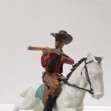 Figuras de Goma y PVC: VAQUERO A CABALLO . FIGURA REAMSA . SERIE ASALTO A LA DILIGENCIA . AÑOS 60. Lote 189434932