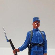 Figuras de Goma y PVC: SOLDADO FEDERAL - YANKEE . REALIZADO POR JECSAN . AÑOS 60 EN PLASTICO. Lote 189535711