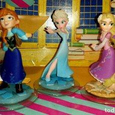 Figuras de Goma y PVC: LOTE DE 3 BONITAS FIGURAS DE PVC DISNEY INFINITY, ANNA Y ELSA DE FROZEN Y RAPUNZEL DE ENREDADOS. Lote 189582930