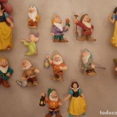 Figuras de Goma y PVC: LOTE FIGURAS DE GOMA PVC BULLY BULLYLAND WALT DISNEY BLANCANIEVES Y LOS SIETE 7 ENANITOS. Lote 189591838