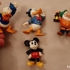 Figurines en Caoutchouc et PVC: LOTE FIGURA DE GOMA O PVC WALT DISBEY BULLY BULLYLAND PATO DONALD,MICKEY MOUSE ENANITO BLANCANIEVES. Lote 189593450