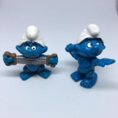 Figuras de Goma y PVC: PITUFOS CULTURISTAS - GYM - SCHLEICH - PITUFO. Lote 213298451
