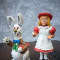 Figuras de Goma y PVC: LOTE 2 FIGURAS PVC ALICIA EN EL PAIS DE LAS MARAVILLAS SCHLEICH W.GERMANY 1984. Lote 189700308