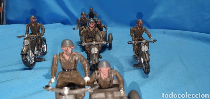 Figuras de Goma y PVC: Figuras moto sidecar militar soldado Teixido - Foto 3 - 189823391