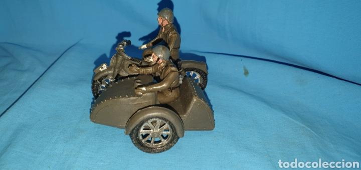 Figuras de Goma y PVC: Figuras moto sidecar militar soldado Teixido - Foto 4 - 189823391