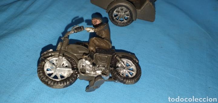 Figuras de Goma y PVC: Figuras moto sidecar militar soldado Teixido - Foto 5 - 189823391