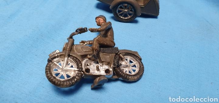 Figuras de Goma y PVC: Figuras moto sidecar militar soldado Teixido - Foto 6 - 189823391