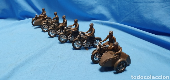 Figuras de Goma y PVC: Figuras moto sidecar militar soldado Teixido - Foto 7 - 189823391