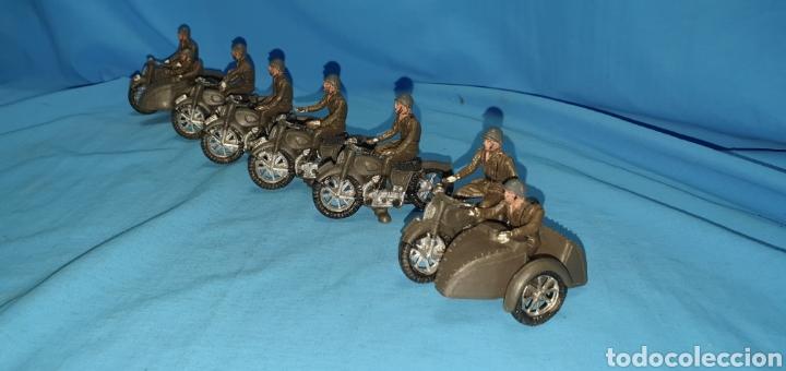 Figuras de Goma y PVC: Figuras moto sidecar militar soldado Teixido - Foto 8 - 189823391