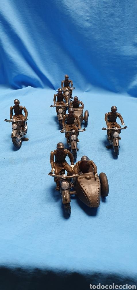 Figuras de Goma y PVC: Figuras moto sidecar militar soldado Teixido - Foto 10 - 189823391