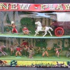 Figuras de Goma y PVC: REAMSA CAJA INDIOS Y COWBOYS. Lote 189947266