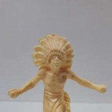 Figuras de Goma y PVC: GUERRERO AFRICANO KAKUANA . MOLDE DE PECH . EN PLASTICO MONOCOLOR. Lote 189993511