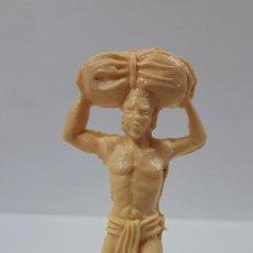 Figuras de Borracha e PVC: PORTEADOR AFRICANO . MOLDE DE PECH . EN PLASTICO MONOCOLOR. Lote 189993671