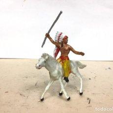 Figuras de Goma y PVC: FIGURA CABALLO JECSAN INDIO OESTE WESTERN COWBOY NO LAFREDO COMANSI REAMSA PECH . Lote 190102947