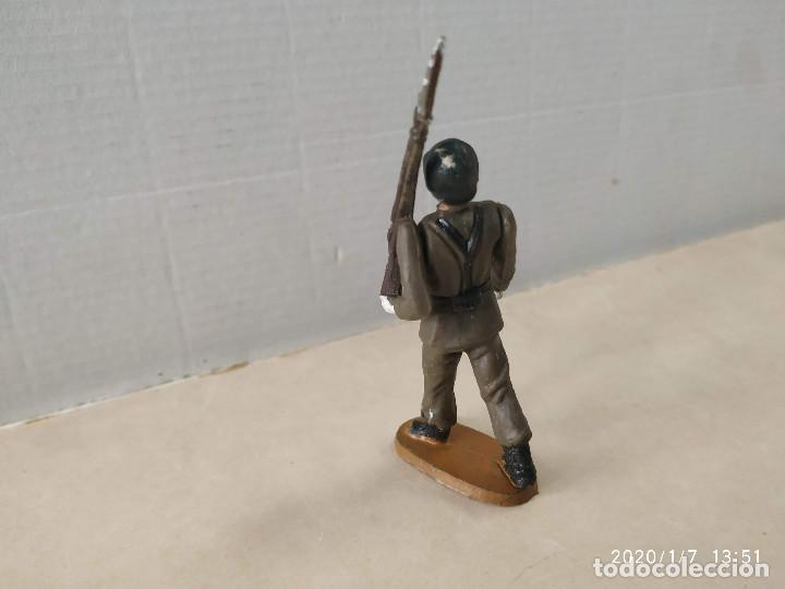 Figuras de Goma y PVC: FIGURA ARTICULADA DE PLÁSTICO SOLDADO ESPAÑOL TEIXIDO - Foto 2 - 190151245