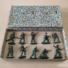 Figuras de Goma y PVC: 10 FIGURAS DE GOMA GUARDIA CIVIL CON CAJA BRUVER. Lote 190151827