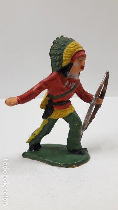 Figuras de Goma y PVC: GUERRERO INDIO . FIGURA REAMSA Nº 69 . AÑOS 50 EN GOMA - Foto 4 - 190160812