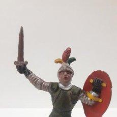 Figuras de Goma y PVC: GUERRERO MEDIEVAL . FIGURA REAMSA Nº 131 . SERIE TORNEO REAL . AÑOS 50 EN GOMA. Lote 190202437