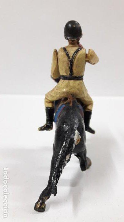 Figuras de Goma y PVC: SOLDADO ESPAÑOL CON TROMPETA A CABALLO - DESFILE . REALIZADO POR TEIXIDO . AÑOS 50 EN GOMA - Foto 4 - 190231341