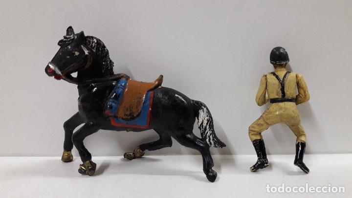 Figuras de Goma y PVC: SOLDADO ESPAÑOL CON TROMPETA A CABALLO - DESFILE . REALIZADO POR TEIXIDO . AÑOS 50 EN GOMA - Foto 8 - 190231341